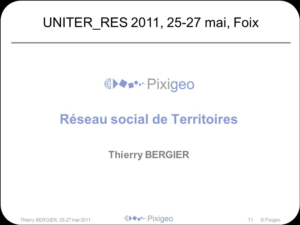 Réseau social de Territoires Thierry BERGIER
