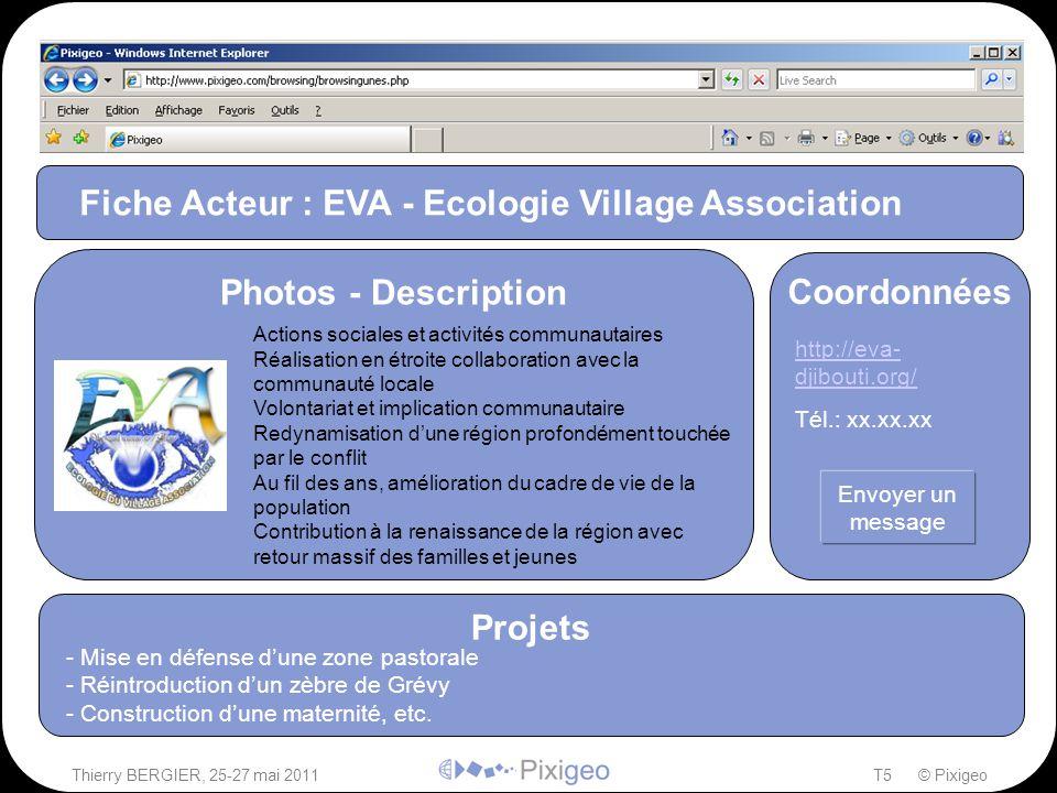² Fiche Acteur : EVA - Ecologie Village Association