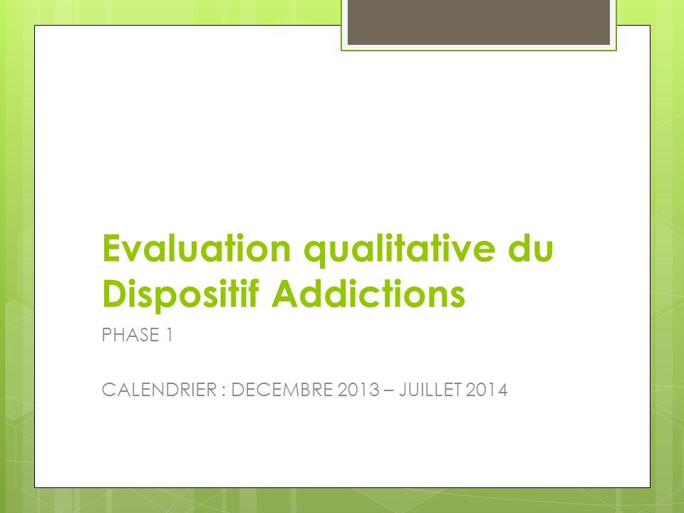 Evaluation qualitative du Dispositif Addictions
