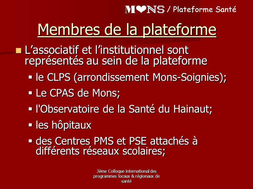 Membres de la plateforme