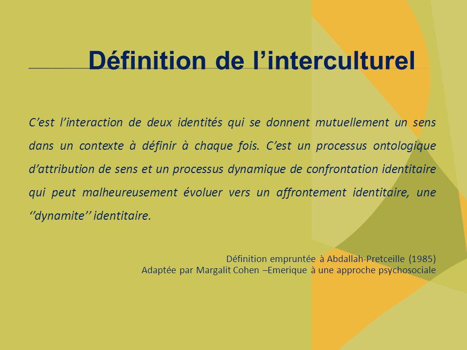 Définition de l'interculturel
