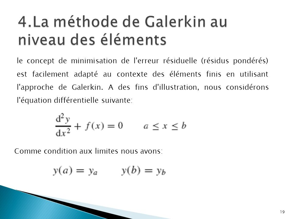 4.La méthode de Galerkin au niveau des éléments
