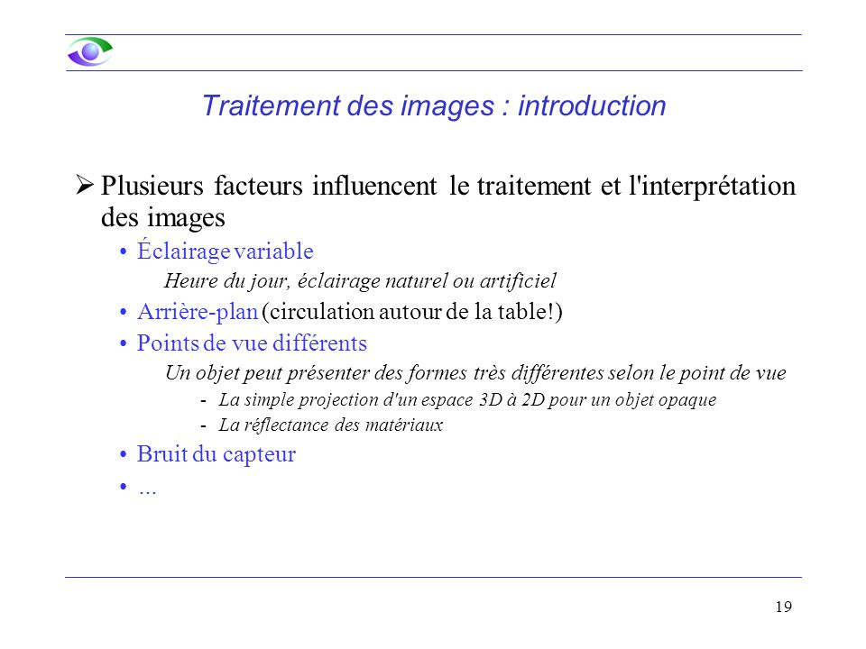 Traitement des images : introduction