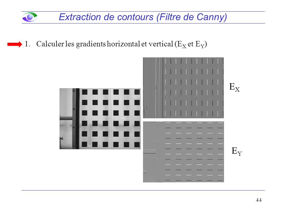 Extraction de contours (Filtre de Canny)