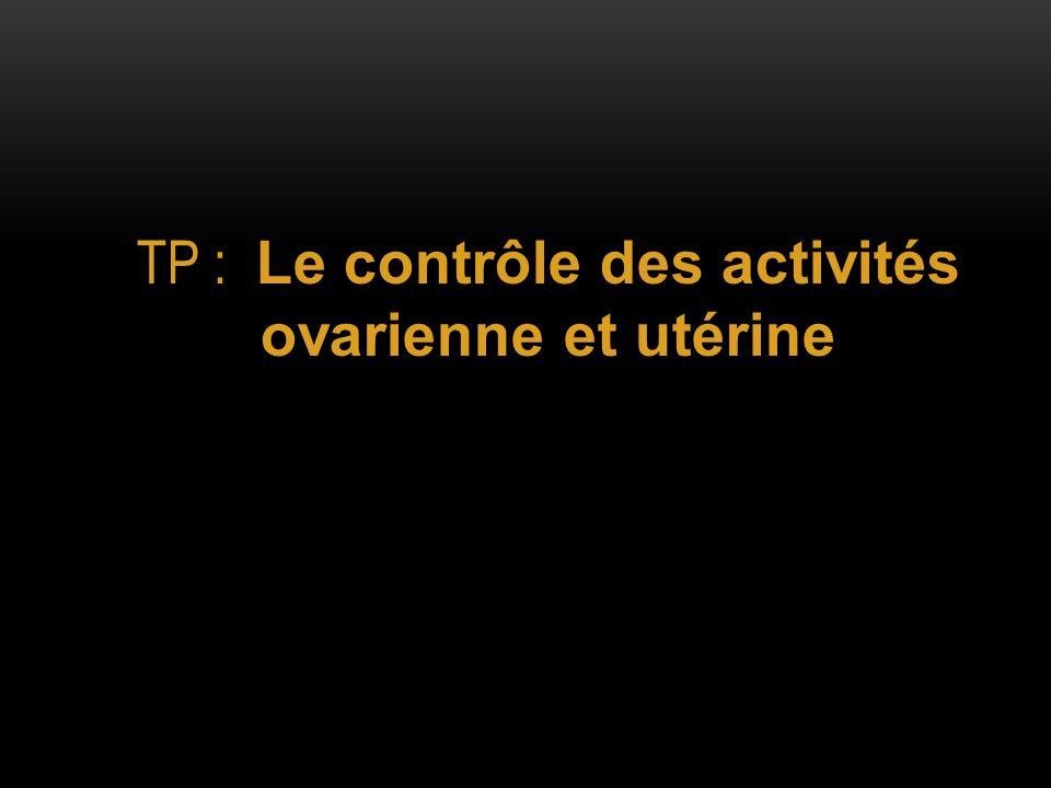 TP : Le contrôle des activités ovarienne et utérine