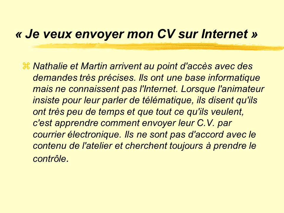 « Je veux envoyer mon CV sur Internet »