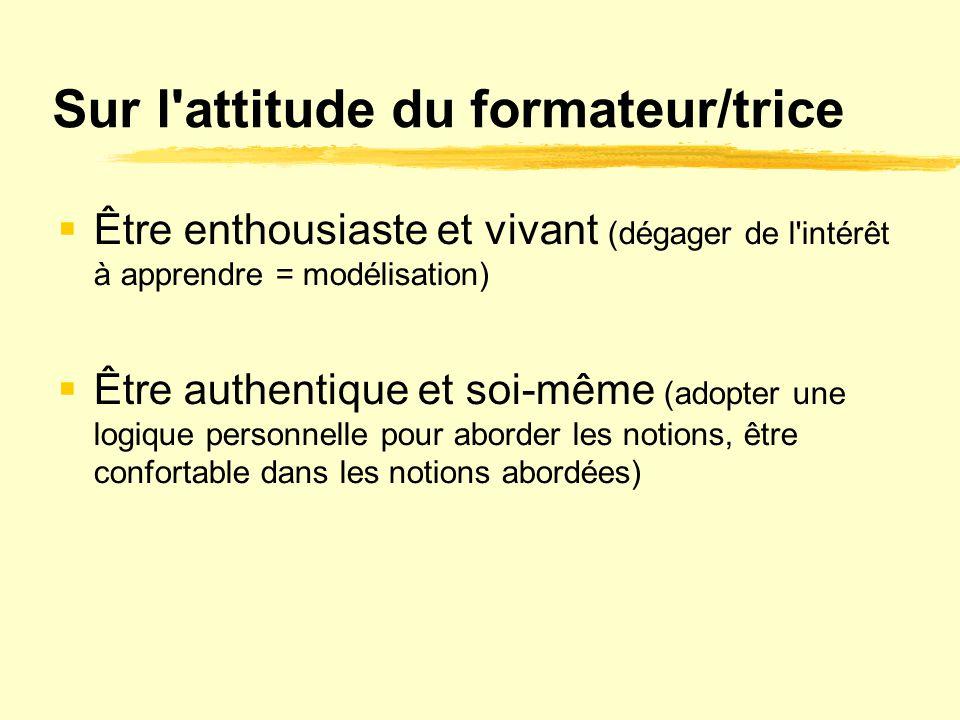 Sur l attitude du formateur/trice