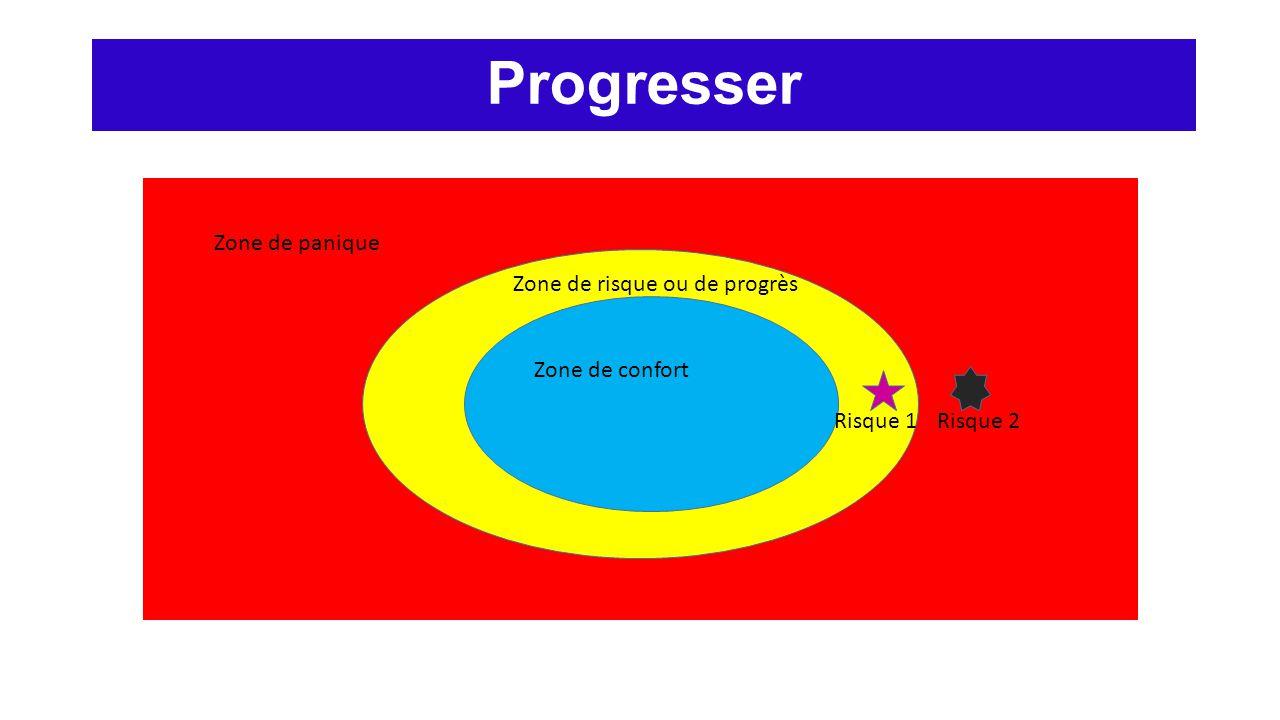 Progresser Zone de panique Zone de risque ou de progrès