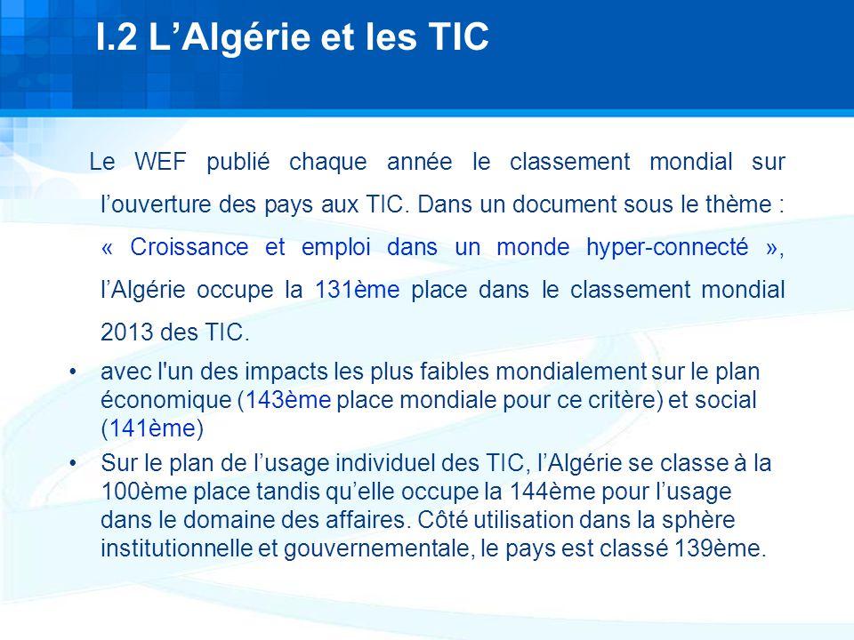 I.2 L'Algérie et les TIC