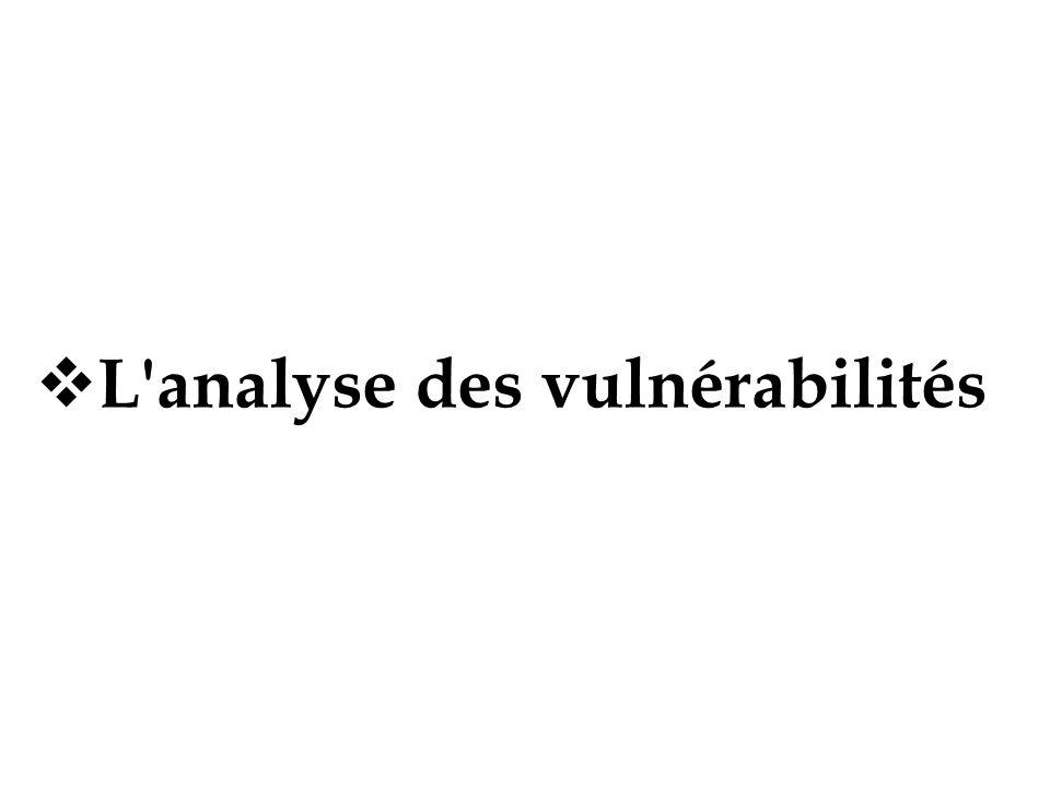 L analyse des vulnérabilités