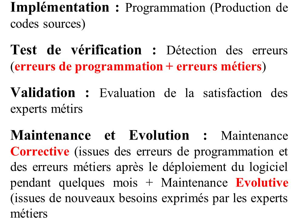Implémentation : Programmation (Production de codes sources)