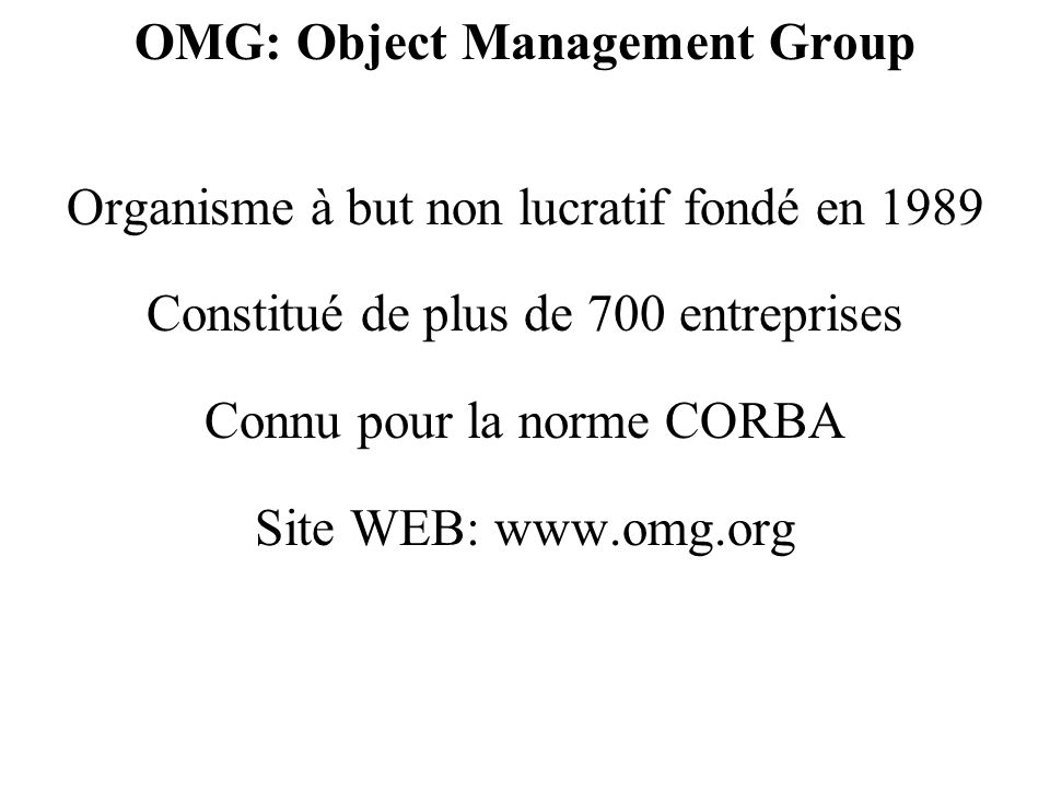 OMG: Object Management Group