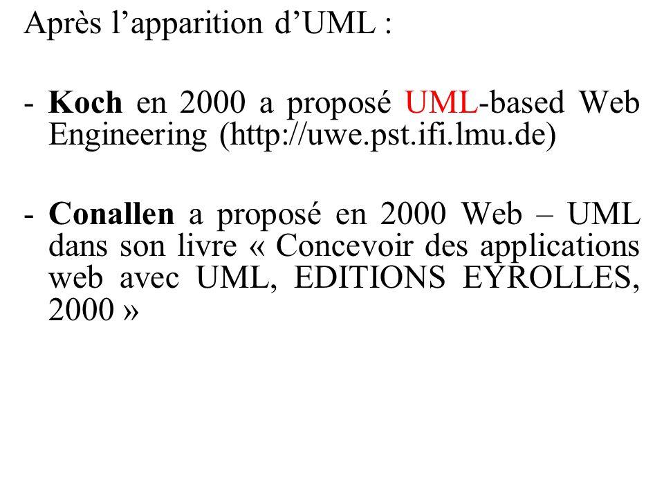 Après l'apparition d'UML :
