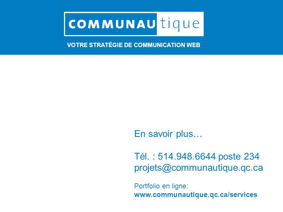 VOTRE STRATÉGIE DE COMMUNICATION WEB