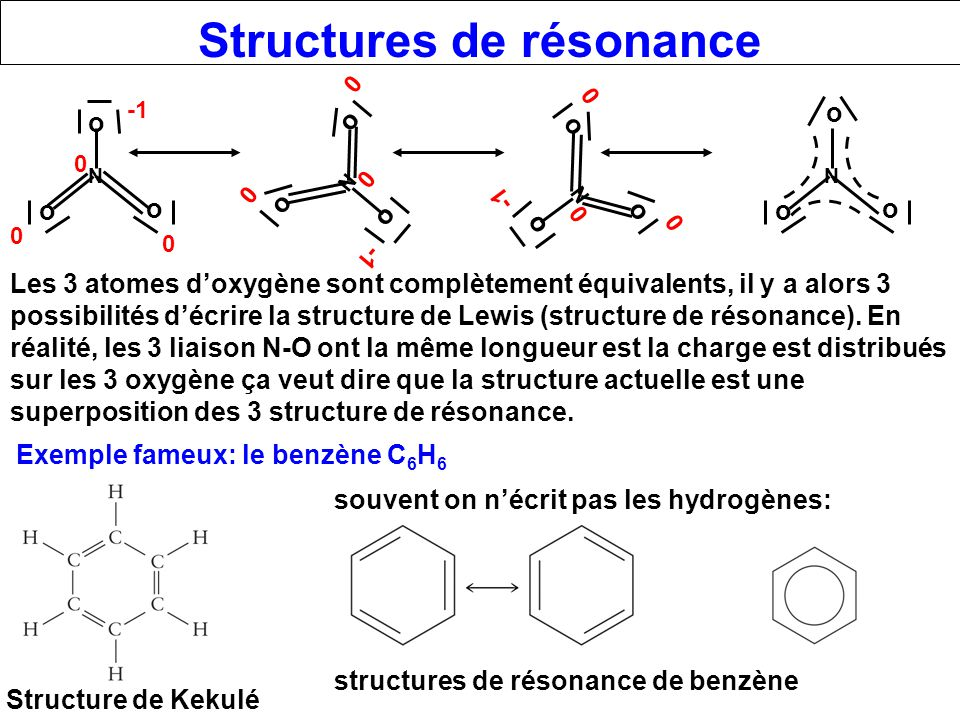 Structures de résonance