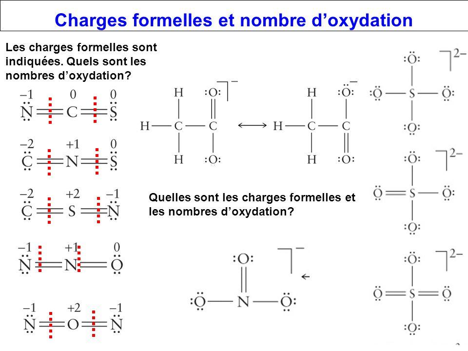 Charges formelles et nombre d'oxydation