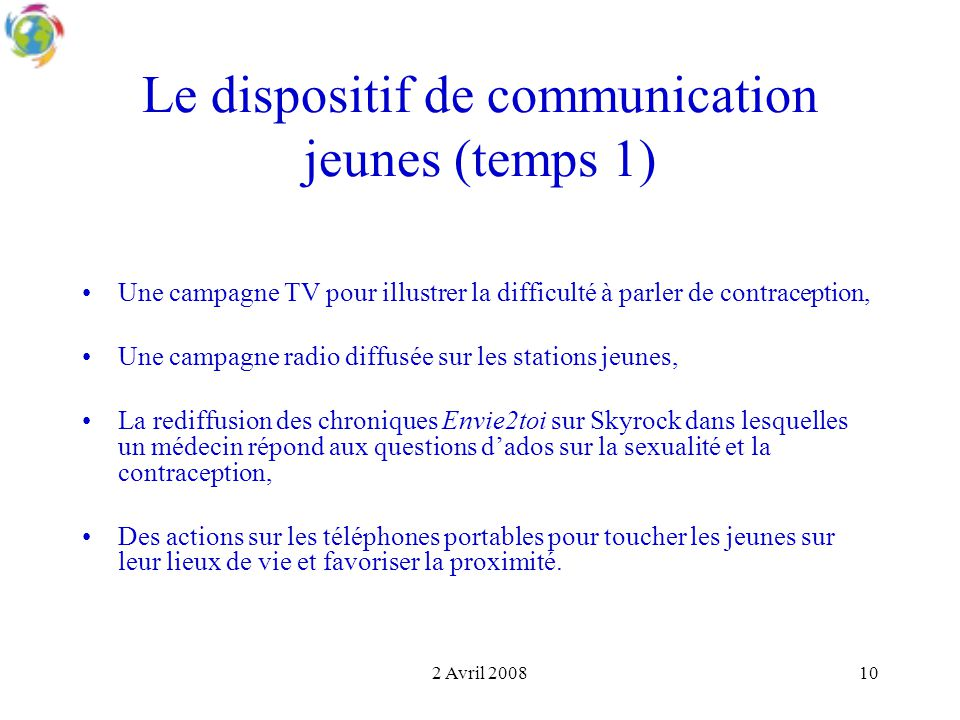 Le dispositif de communication jeunes (temps 1)