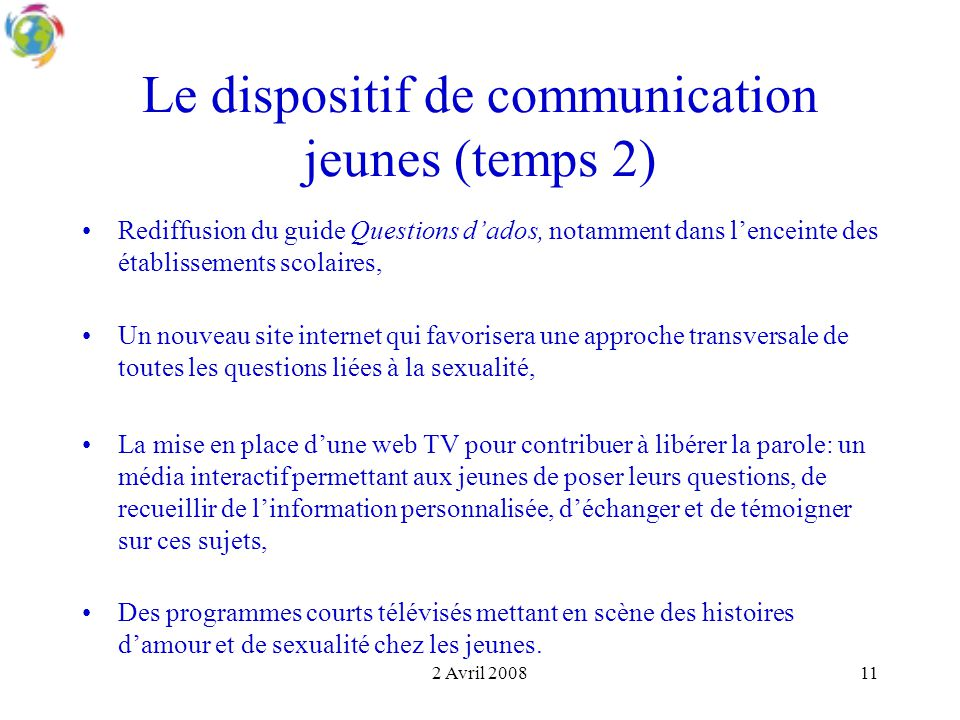 Le dispositif de communication jeunes (temps 2)