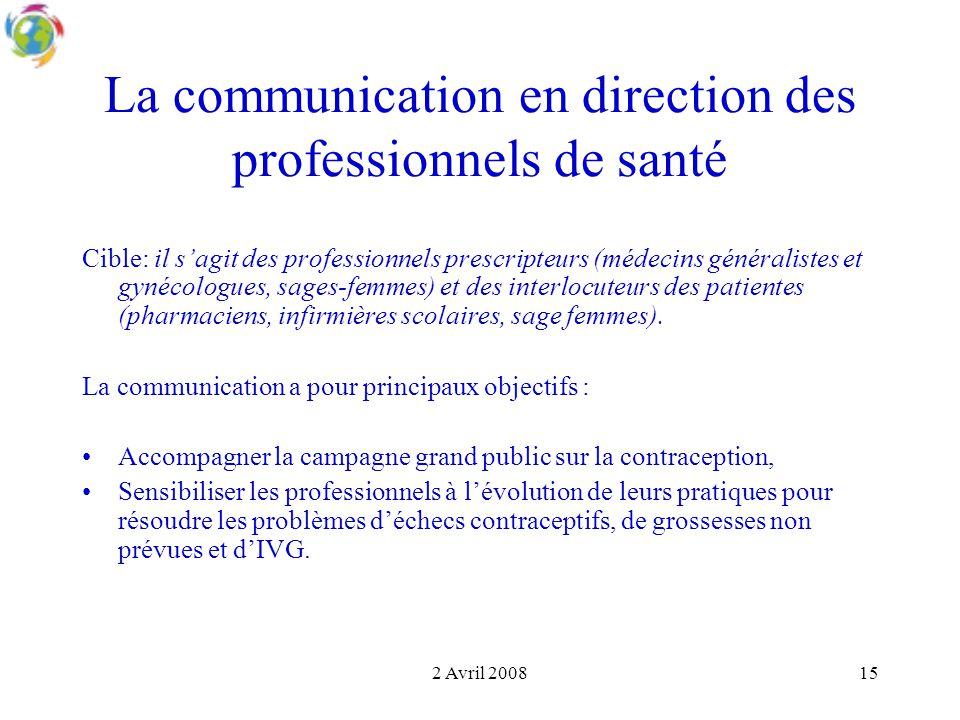 La communication en direction des professionnels de santé