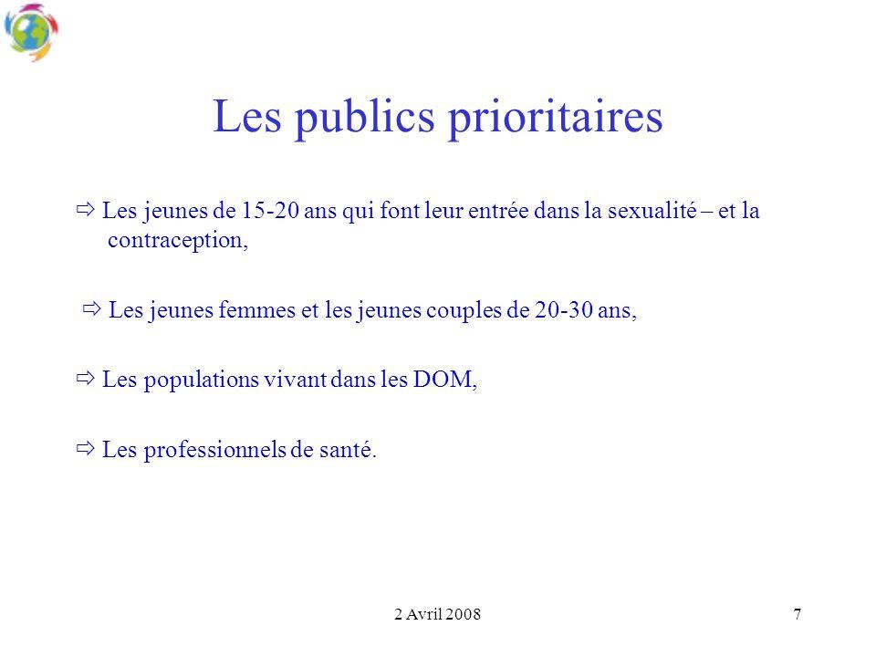 Les publics prioritaires
