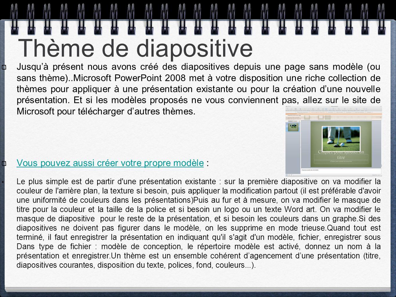Thème de diapositive
