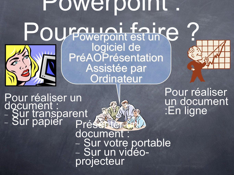 Powerpoint : Pourquoi faire