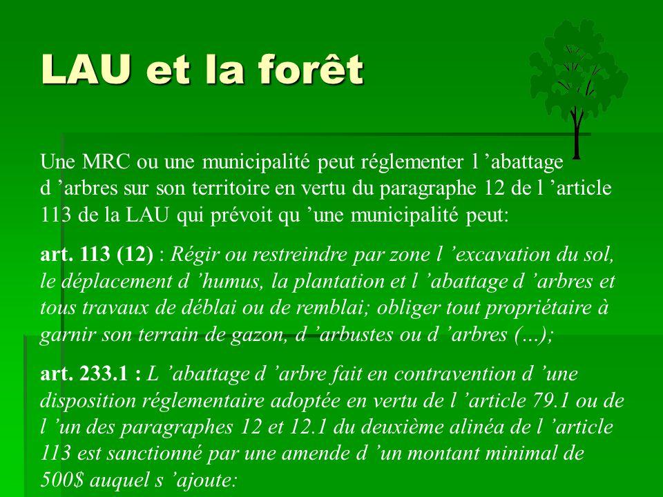 LAU et la forêt