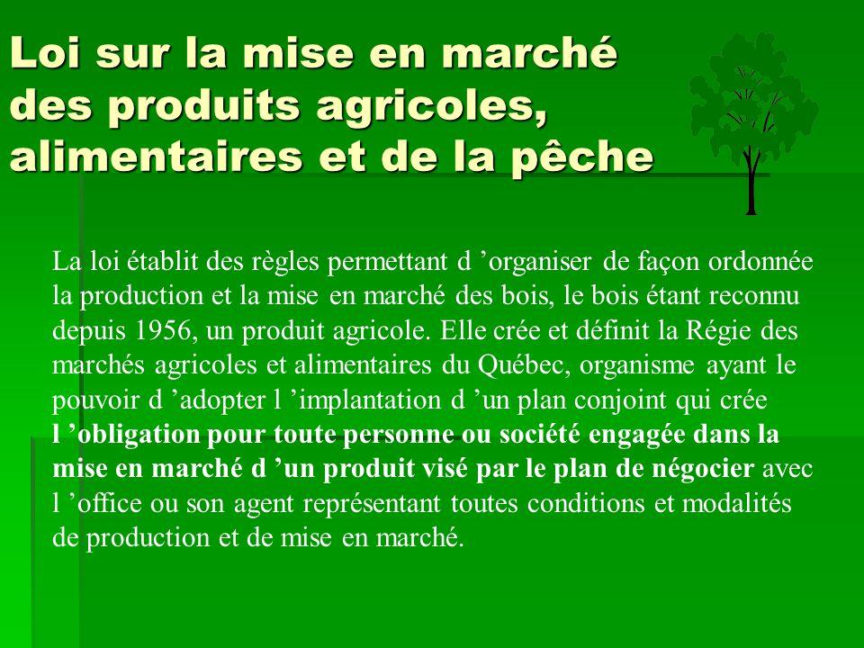 Loi sur la mise en marché des produits agricoles, alimentaires et de la pêche