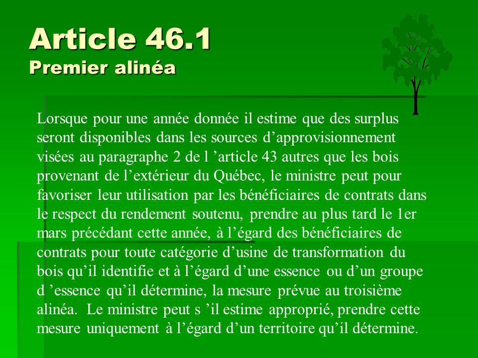 Article 46.1 Premier alinéa