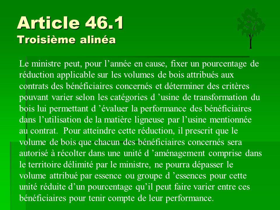 Article 46.1 Troisième alinéa
