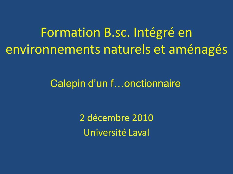 Formation B.sc. Intégré en environnements naturels et aménagés
