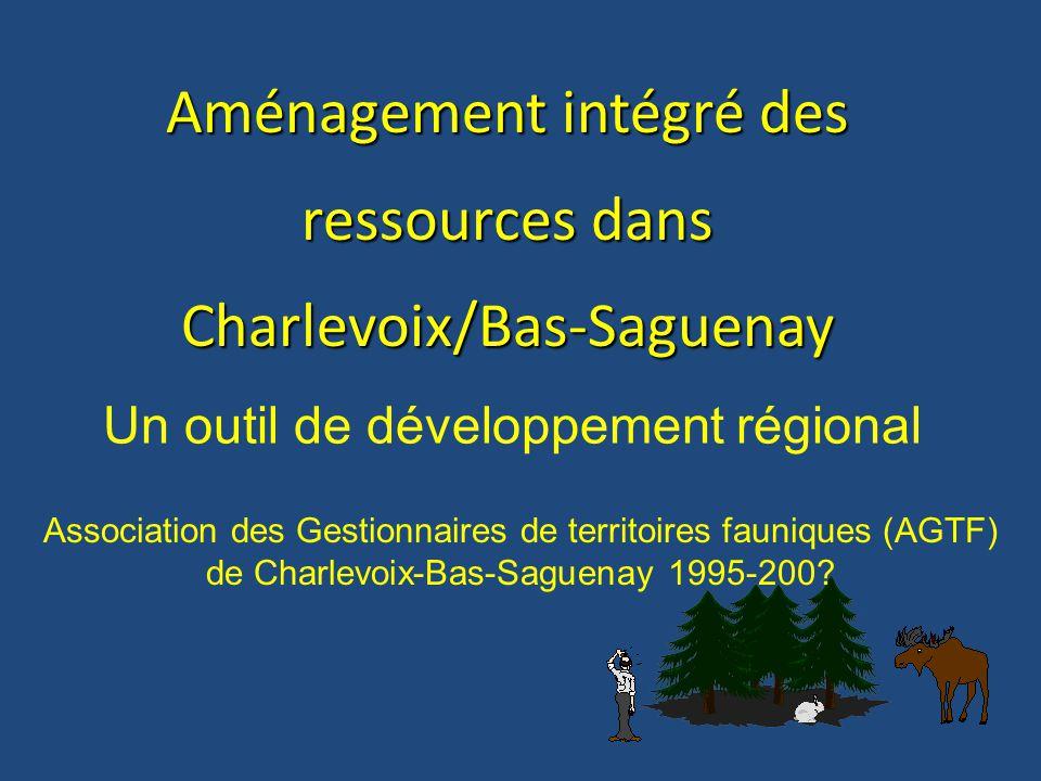 Aménagement intégré des ressources dans Charlevoix/Bas-Saguenay