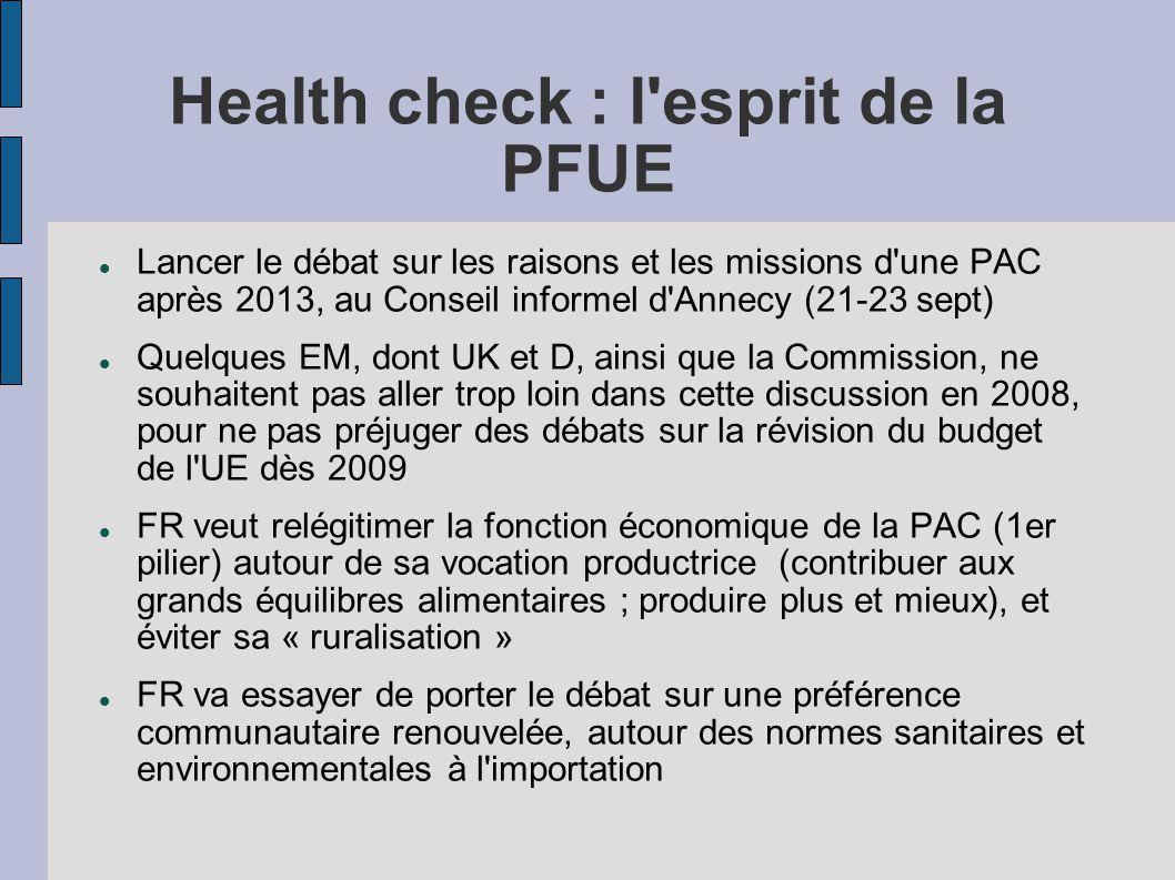 Health check : l esprit de la PFUE