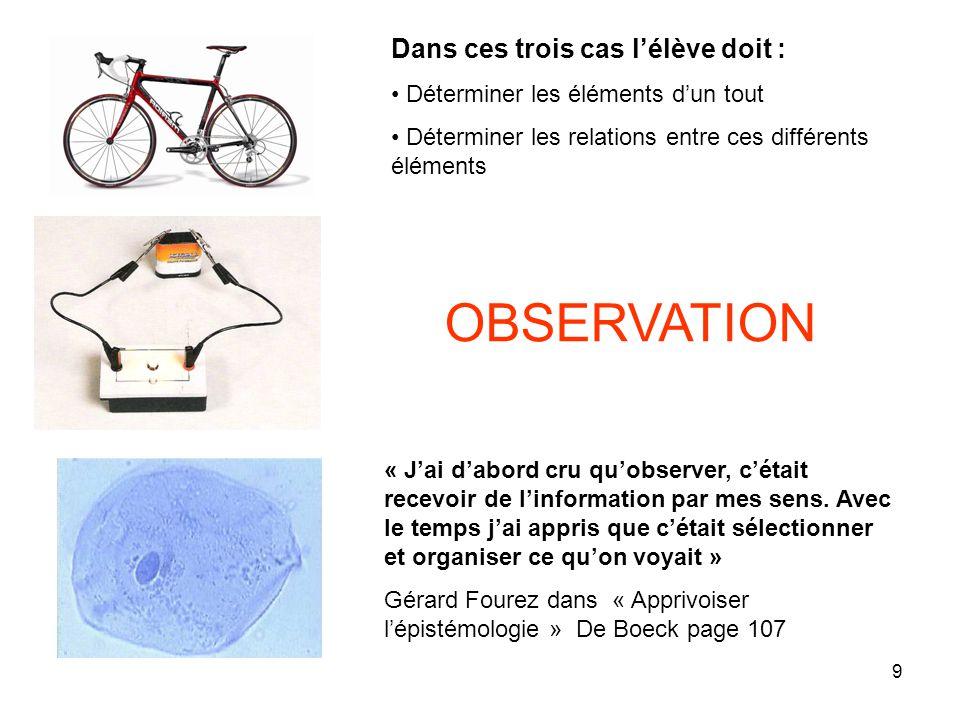 OBSERVATION Dans ces trois cas l'élève doit :