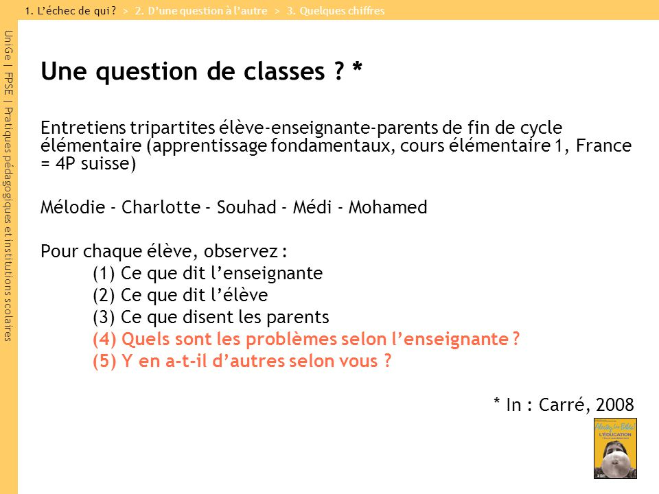 Une question de classes *