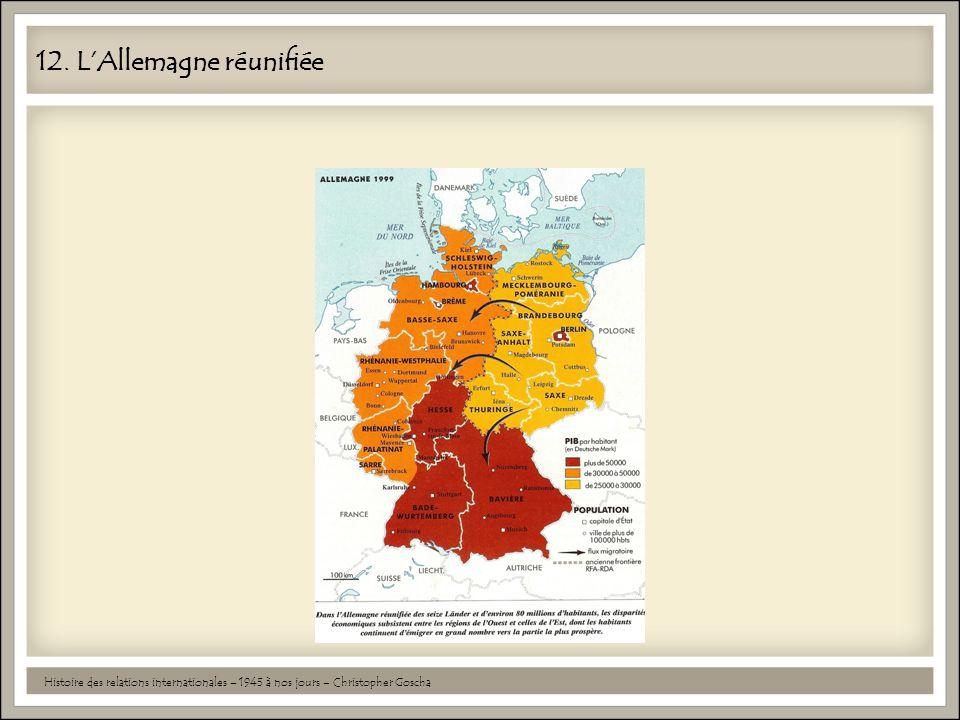 12. L'Allemagne réunifiée