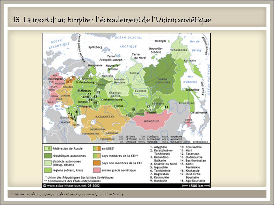 13. La mort d'un Empire : l'écroulement de l'Union soviétique