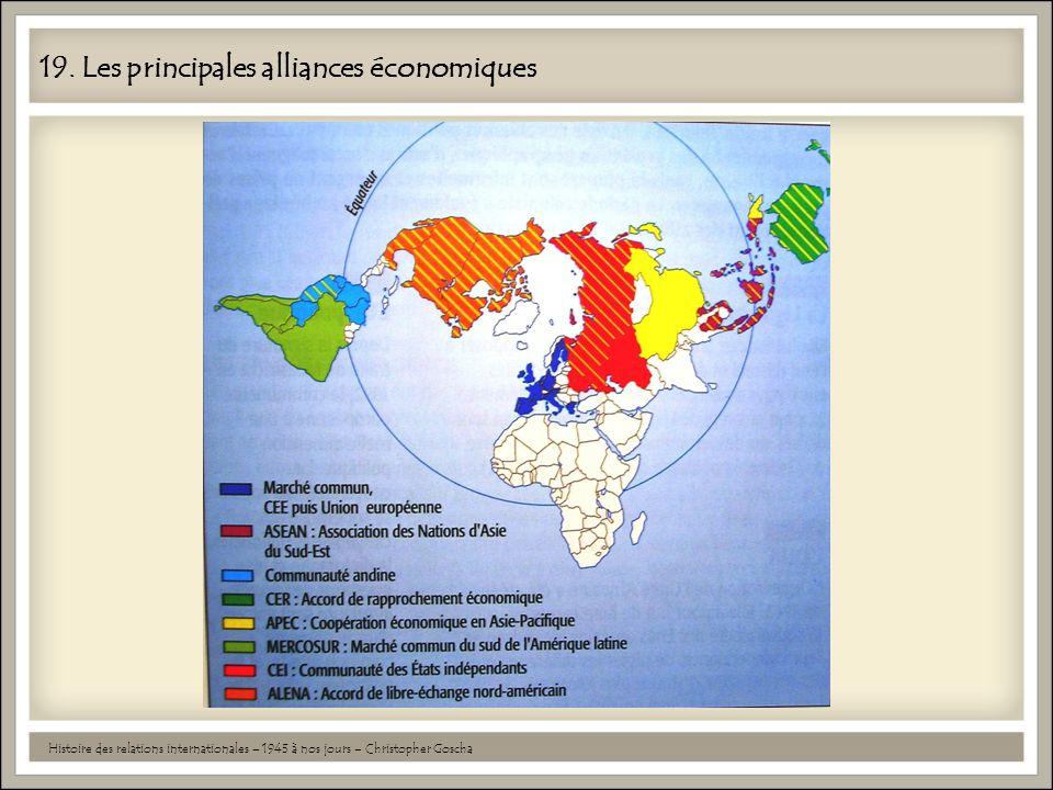 19. Les principales alliances économiques