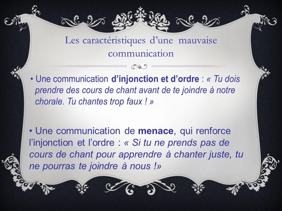 Les caractéristiques d'une mauvaise communication