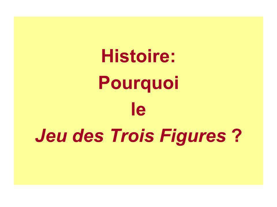 Histoire: Pourquoi le Jeu des Trois Figures