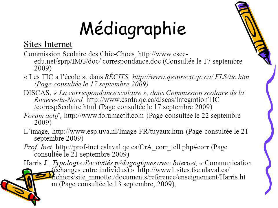 Médiagraphie Sites Internet