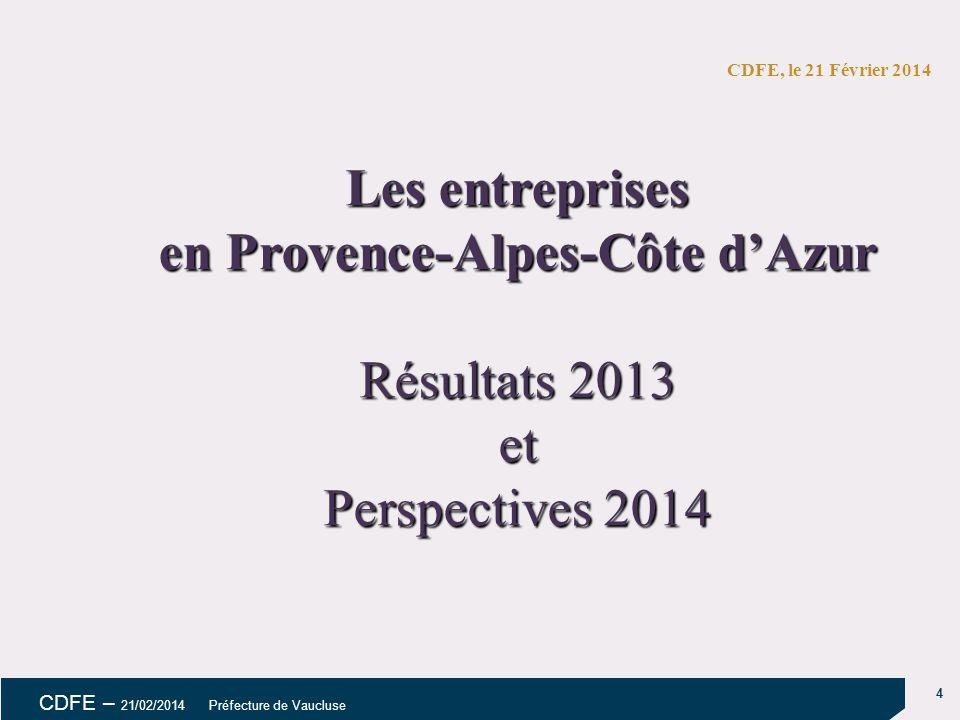Les entreprises en Provence-Alpes-Côte d'Azur