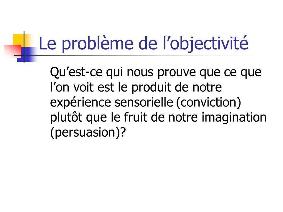 Le problème de l'objectivité