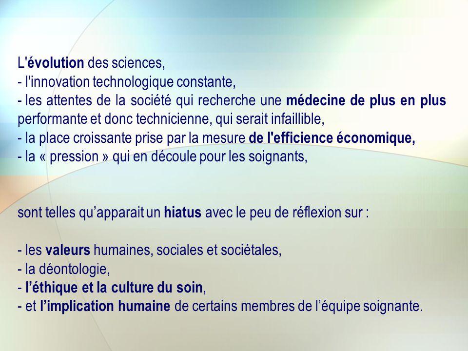 L évolution des sciences,
