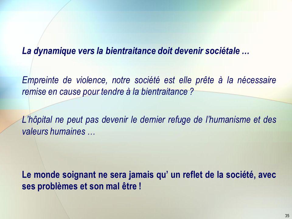 La dynamique vers la bientraitance doit devenir sociétale …