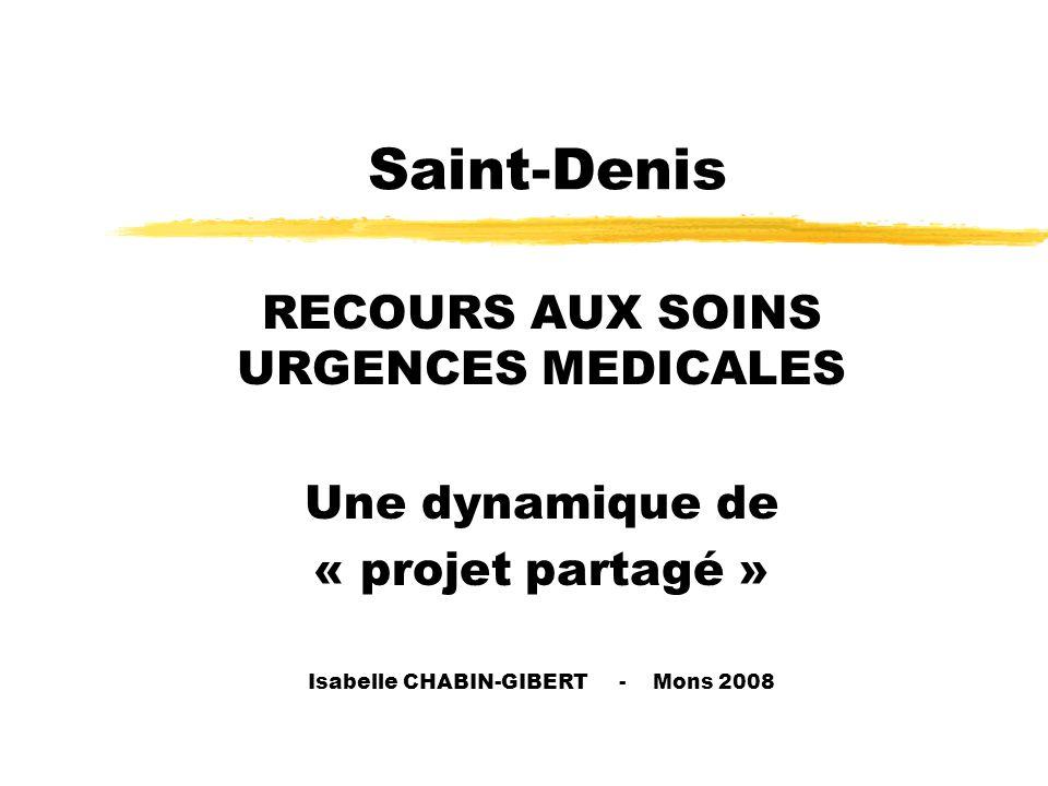 Saint-Denis RECOURS AUX SOINS URGENCES MEDICALES Une dynamique de