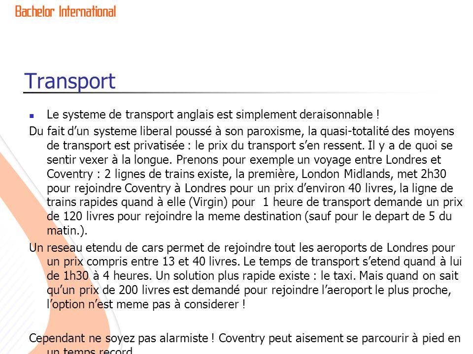 Transport Le systeme de transport anglais est simplement deraisonnable !