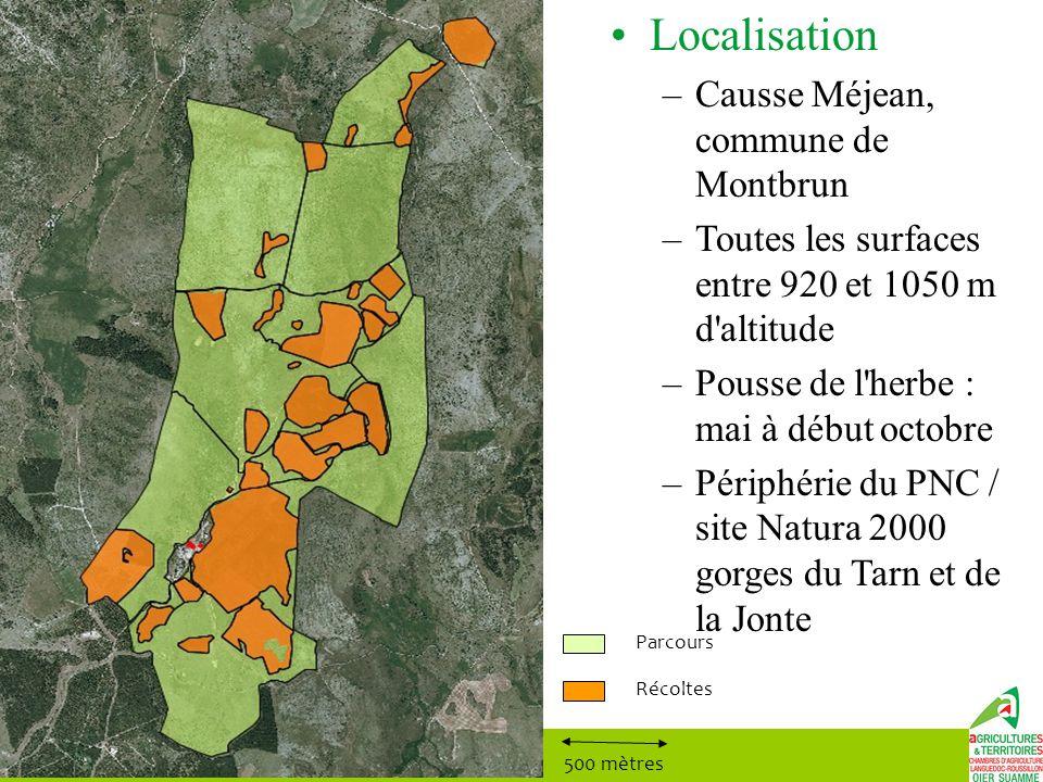 Localisation Causse Méjean, commune de Montbrun