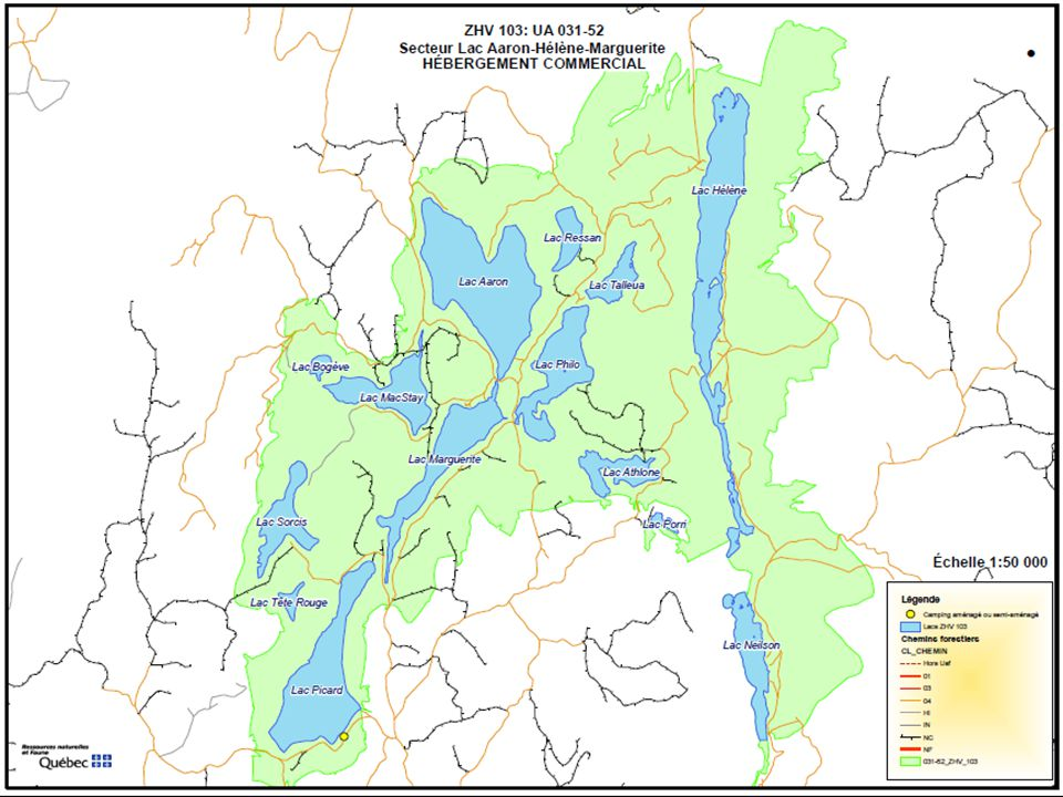 Évaluation ZHV 103-Secteur Lac Aaron-Hélène-Marguerite UA 031-52
