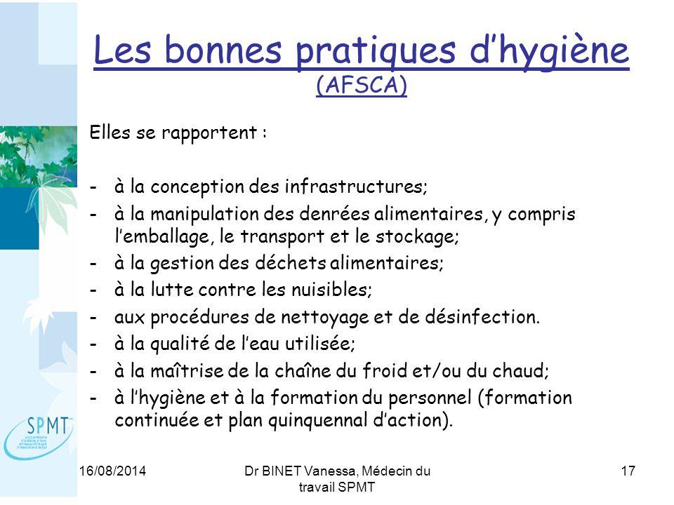 Les bonnes pratiques d'hygiène (AFSCA)